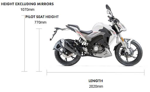 Dimensions RKF 125cc E5