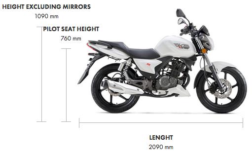 Dimensions RKS 125cc