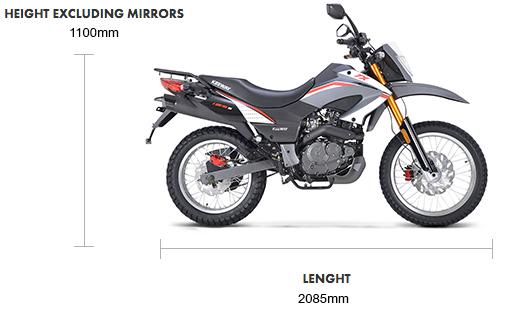Dimensions TX 125cc E4 Enduro