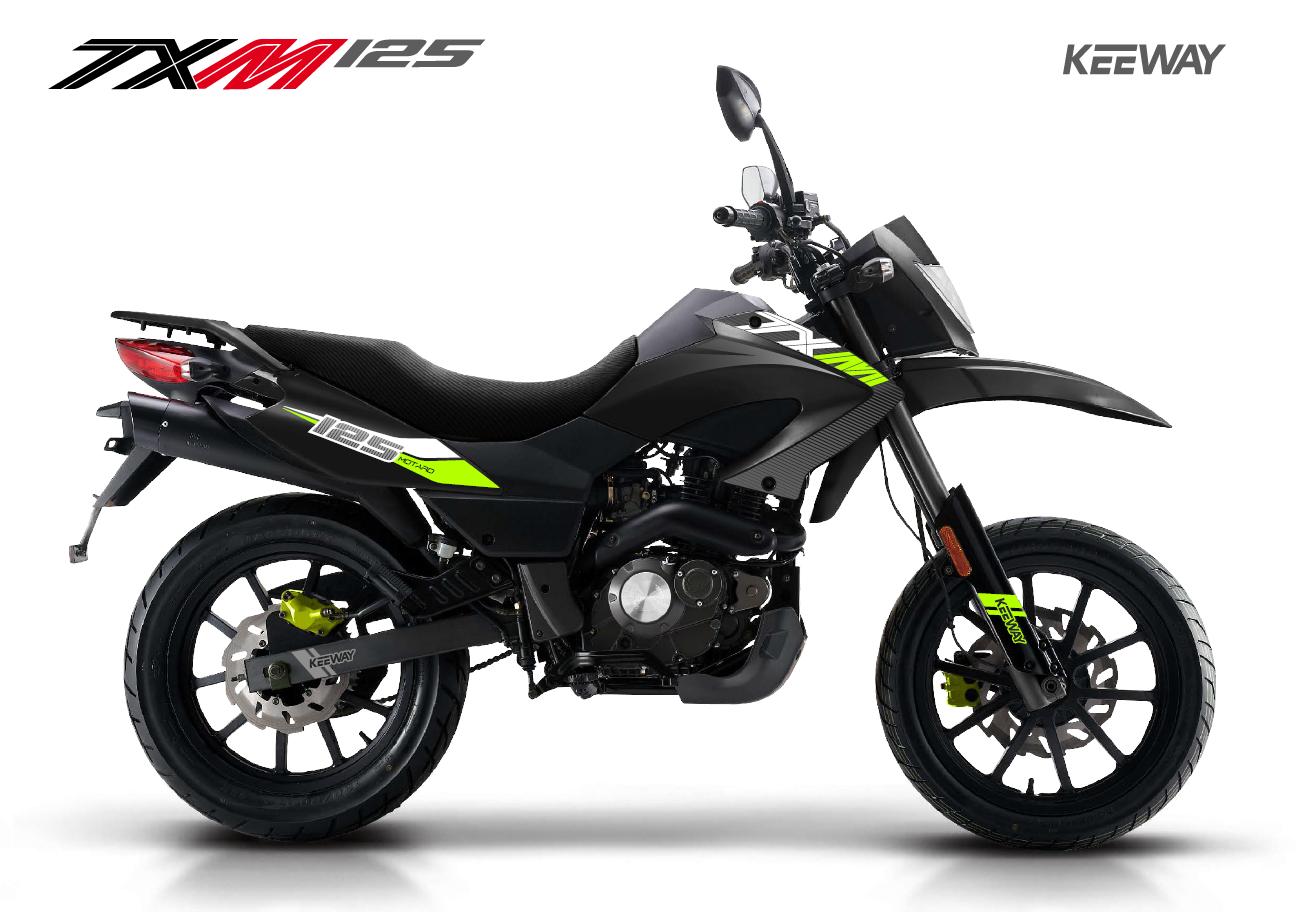 Black & Green TX 125cc SuperMoto