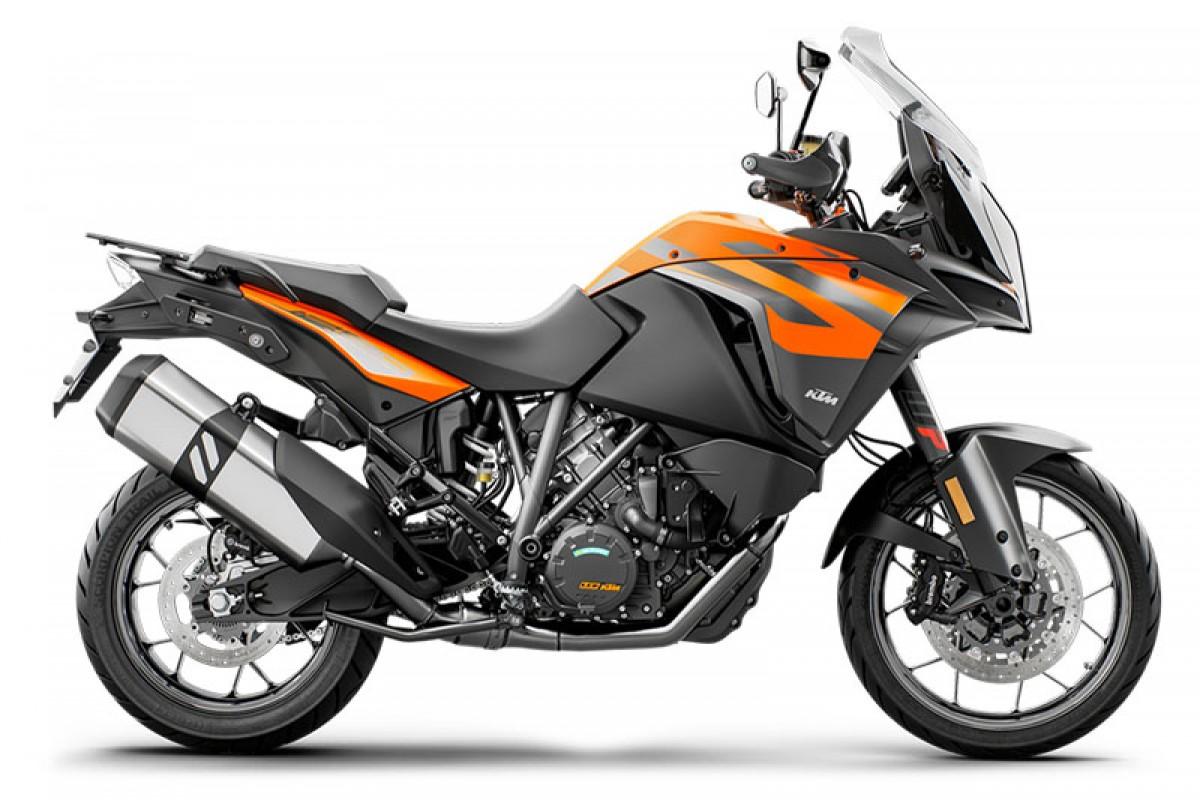 orange 2020 KTM 1290 Super Adventure S