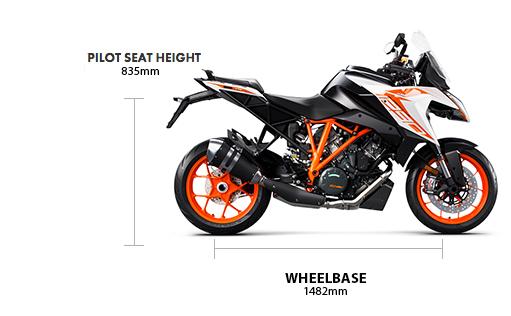 Dimensions 2020 1290 Super Duke GT pre-reg