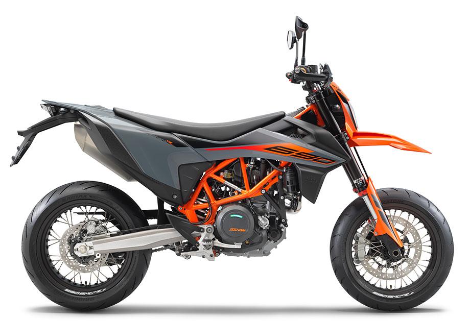 Orange 2021 KTM SMC R