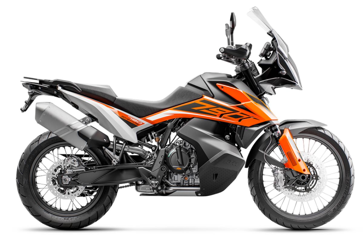 Orange 2020 KTM 790 Adventure