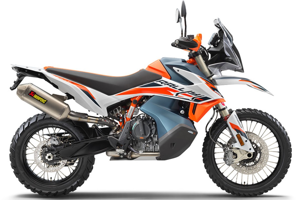 White 2021 KTM 890 Adventure R Rally
