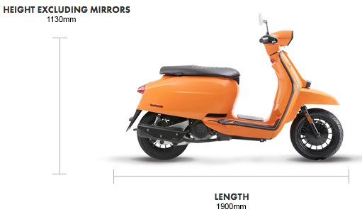 Dimensions V Special 125cc Bi Colour