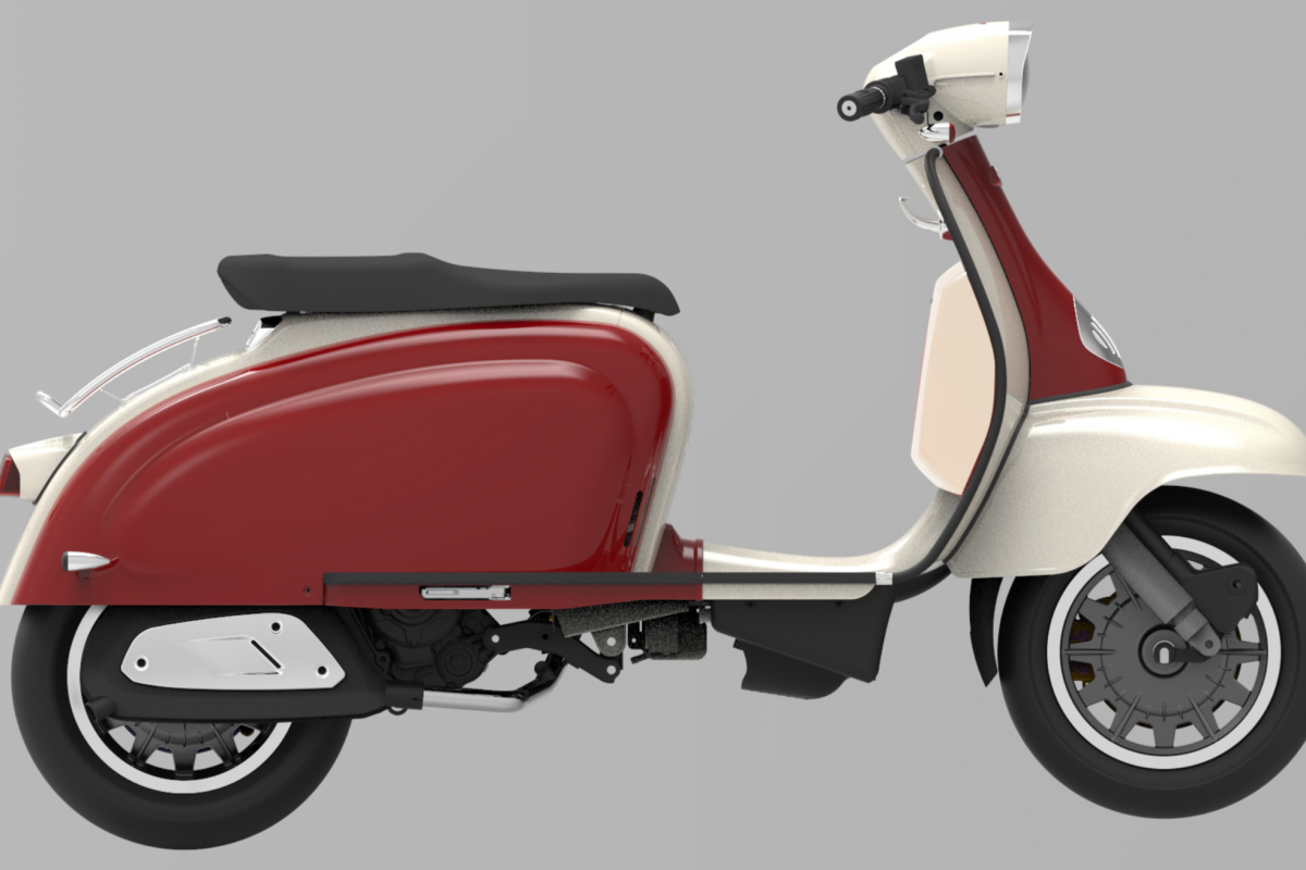 Burgundy Red - Ivory TG 125 S LC ABS E4