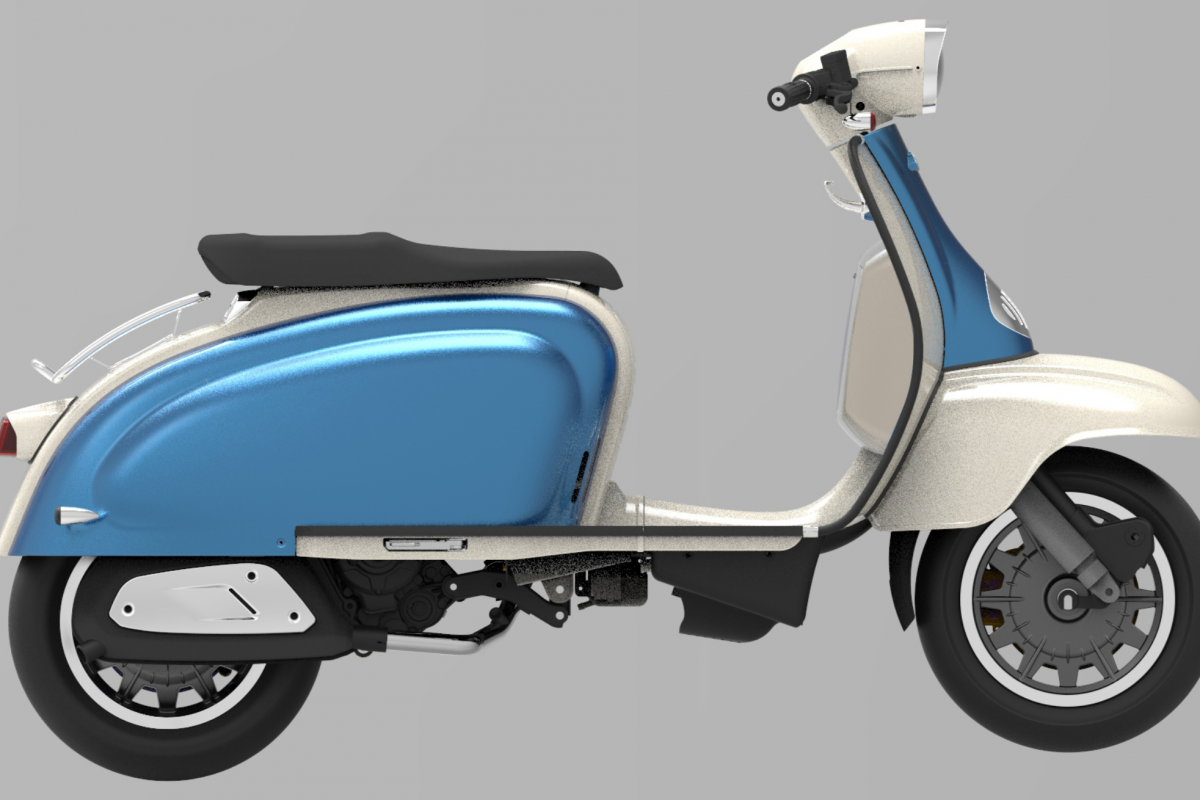 Ultra Blue - Ivory TG 125cc S LC ABS