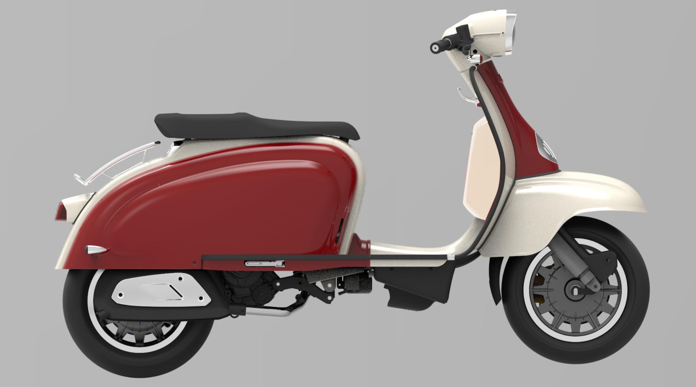 Dark Red/White TG 300 S