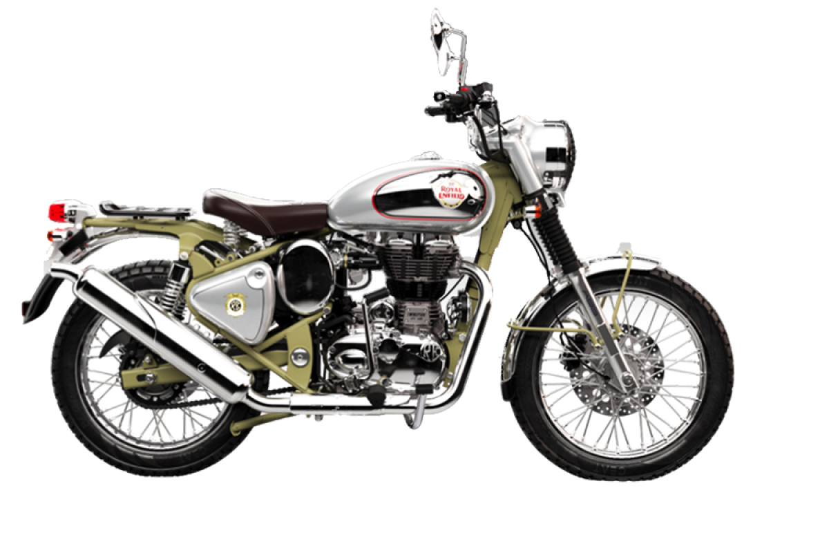 Green Royal Enfield Bullet 500 Trials