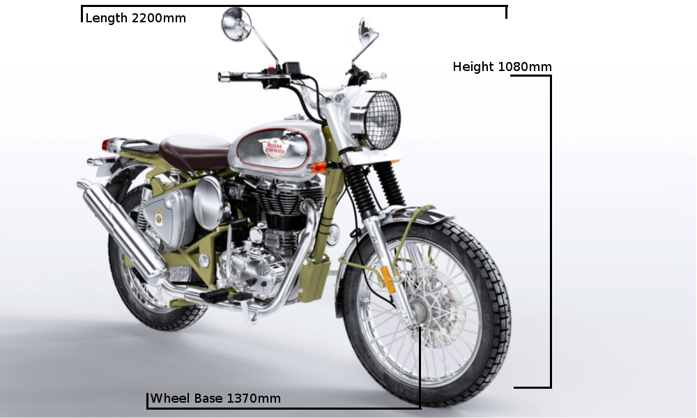 Royal Enfield Bullet 500 Trials Dimensions