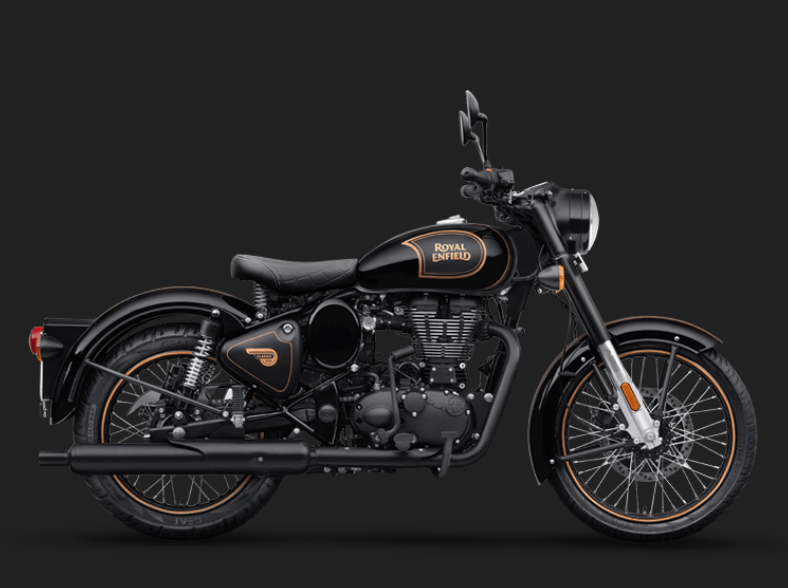 New Classic Tribute Black Due Sept 2020 Images for illustration purposes onlyRoyal Enfield Classic 500 Tribute Black