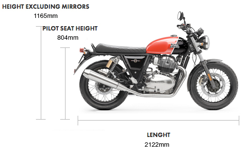 Royal Enfield Interceptor INT 650 Twin Dimensions