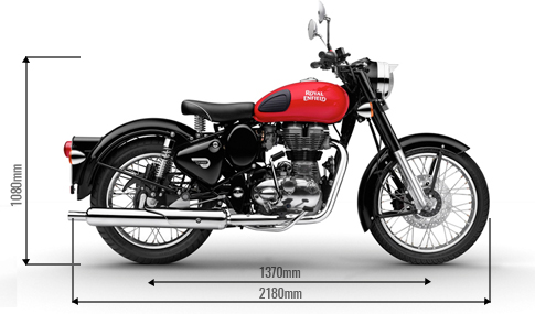 Royal Enfield Redditch Edition Dimensions