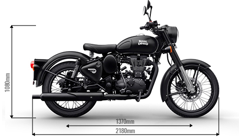 Royal Enfield Stealth Dimensions