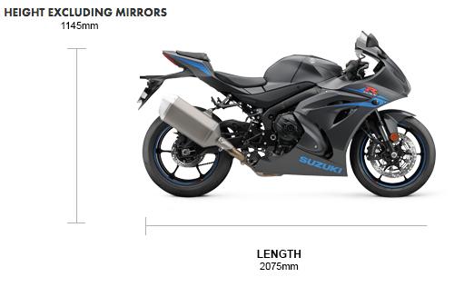 Dimensions GSX-R1000