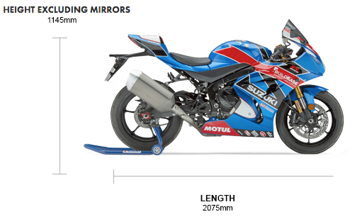 Dimensions GSX-R1000R Build Base