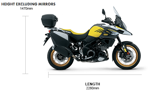 Dimensions 2020 V-Strom 1050XT Explorer Edition