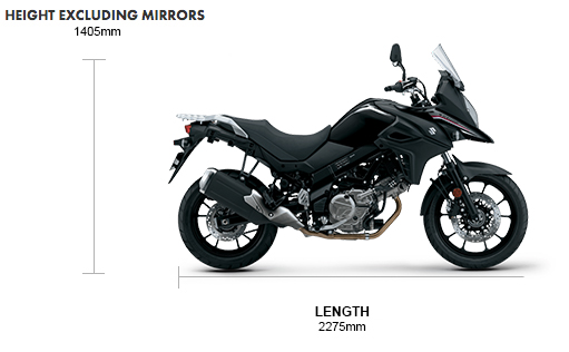 Dimensions V-Strom 650 AM0 Pre-Registered