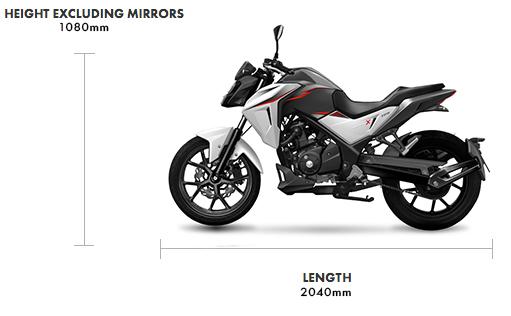 Dimensions NHX 125cc